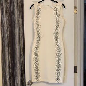 Mirrored embellished sleeveless dress